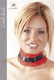 Cottelli - Rózsa nyakpánt (vörös-fekete)