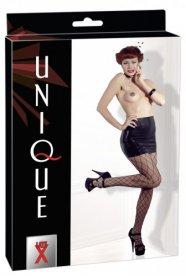 UNIQUE - latex miniszoknya (fekete)
