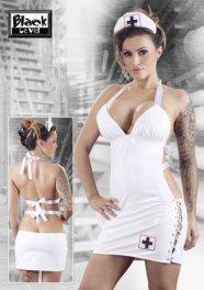 Fehér, lakk nővérke ruha