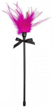 Cirógató valódi tollakkal - pink