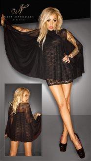 Noir - tündéri csipke ruha (fekete)