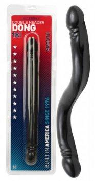 Amerikai dupla dildó - fekete (44,5cm)