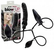 blow UP - pumpálható, latex dildó szett (fekete)