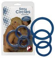 Szilikon gyűrű trió - kék