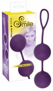 SMILE XXL Balls - óriás gésagolyók (lila)