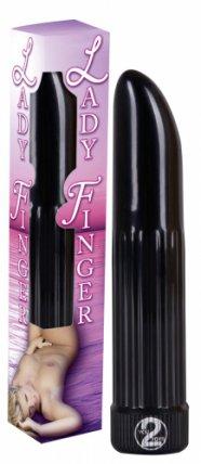 Lady finger vibrátor (fekete)