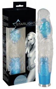 Starlight - csillogó, világító vibrátor (áttetsző-kék)