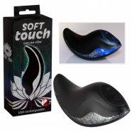 Soft Touch - újratölthető csiklóvibrátor (fekete)